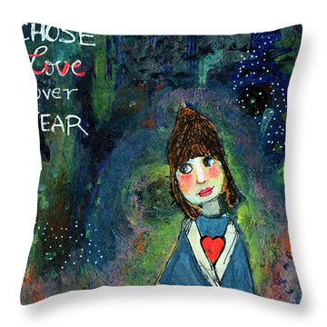 She Chose Love Over Fear Throw Pillow