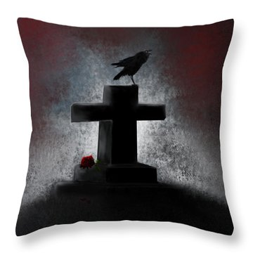 She Died So Young  Throw Pillow