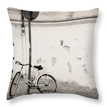 She Is Waiting  Throw Pillow