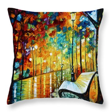 She Left.... New Version Throw Pillow by Leonid Afremov