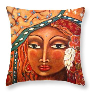 She Sees Throw Pillow by Maya Telford