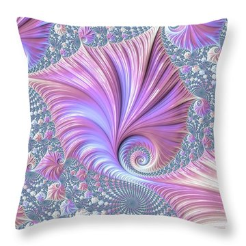 Throw Pillow featuring the digital art She Shell by Susan Maxwell Schmidt