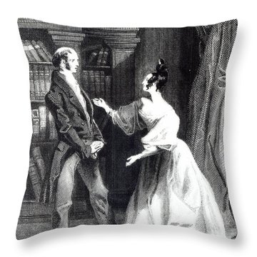 She Then Told Him What Mr Darcy Had Voluntarily Done For Lydia Throw Pillow by William Greatbach