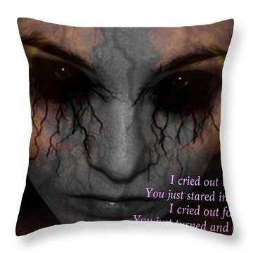 She Turned And Walked Away Throw Pillow