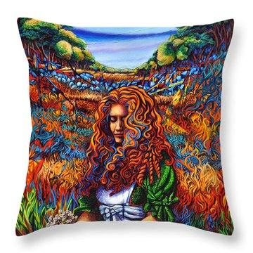 She Was... Throw Pillow by Greg Skrtic