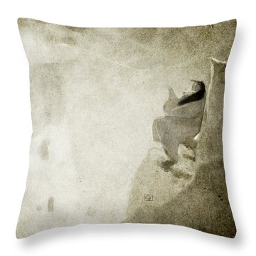 She Watches The Sunrise Throw Pillow