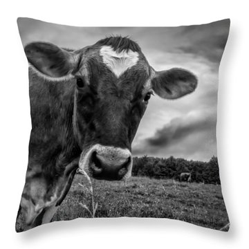 She Wears Her Heart For All To See Throw Pillow
