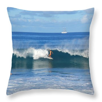 She Shows Cool At Point Panic Throw Pillow