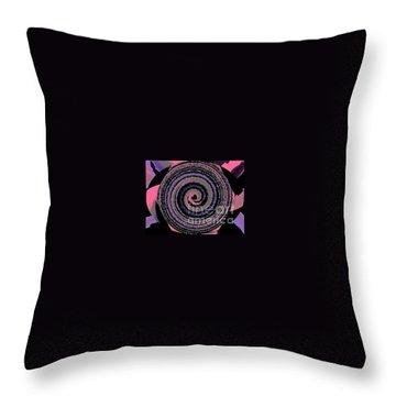 She Wirls Throw Pillow by Catherine Lott