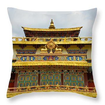 Shechen Monastery In Kathmandu Throw Pillow