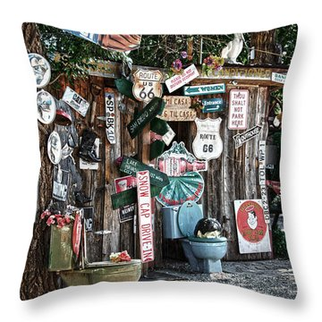 Shed Toilet Bowls And Plaques In Seligman Throw Pillow