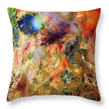 Shedding Light On The Past Throw Pillow