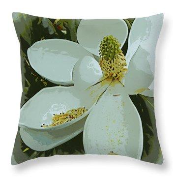 Shedding Magnolia Throw Pillow