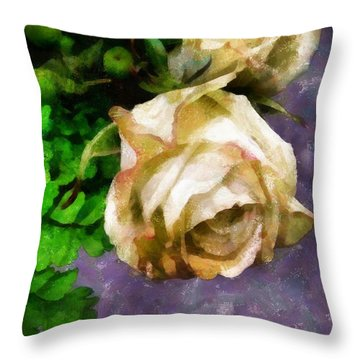 Shedding Stardust Throw Pillow by RC deWinter