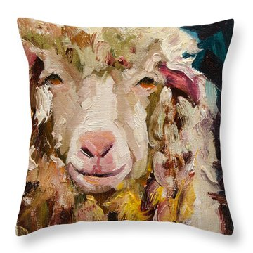 Sheep Alert Throw Pillow