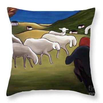 Sheep Herder  Throw Pillow