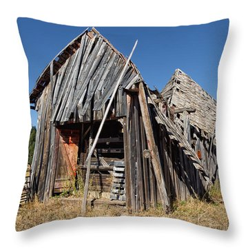 Sheep Shed Throw Pillow by Kathleen Bishop