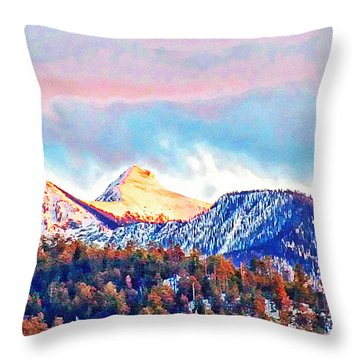 Sheep's Head Peak From My Home Throw Pillow