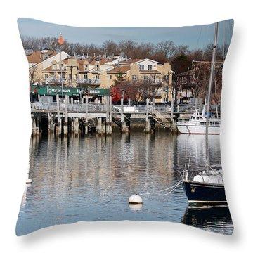 Sheepshead Bay Harbor #3 Throw Pillow