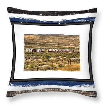 Sheepwagons Throw Pillow