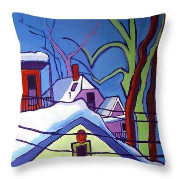 Sheffield Winter Throw Pillow by Debra Bretton Robinson
