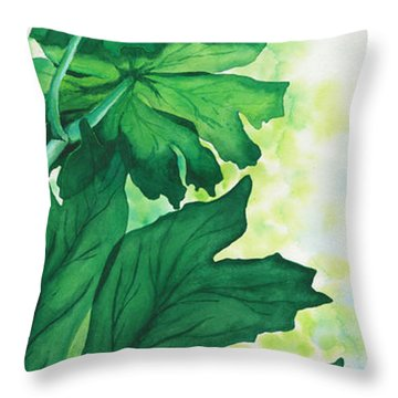 Shefflera Throw Pillow