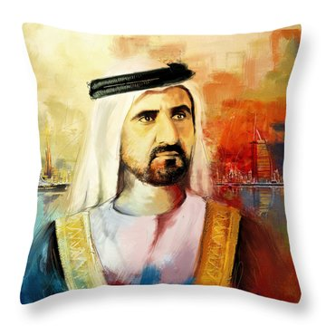 Sheikh Mohammed Bin Rashid Al Maktoum Throw Pillow by Corporate Art Task Force