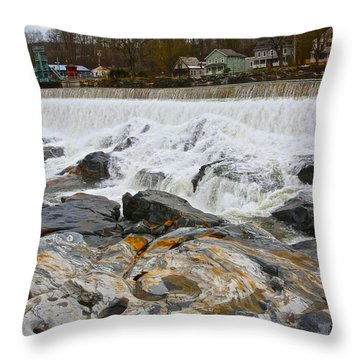 Shelburne's Falls Throw Pillow by Randi Shenkman