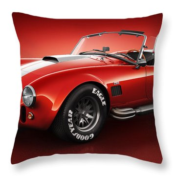 Shelby Cobra 427 - Bloodshot Throw Pillow