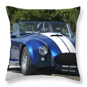 Shelby Cobra Throw Pillow by Christiane Schulze Art And Photography