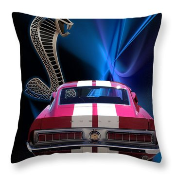 Shelby Cobra Gt-500 Throw Pillow by Chris Thomas