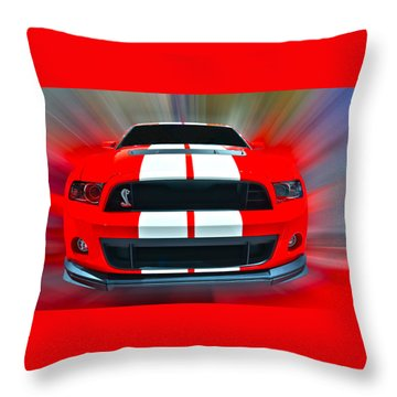 Shelby Gt 500  2013 Throw Pillow