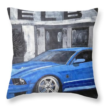 Throw Pillow featuring the painting Shelby Mustang by Richard Le Page