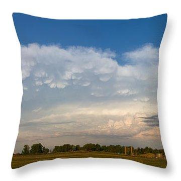 Shelf Cloud Mamacumulus Leading Edge  Throw Pillow