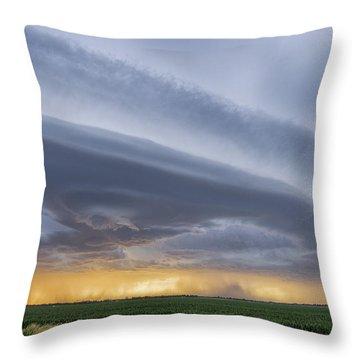 Shelf Clouds Throw Pillow