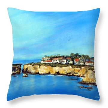 Shell Beach California Throw Pillow
