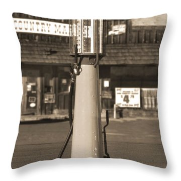 Shell Gas - Wayne Visible Gas Pump 2 Throw Pillow by Mike McGlothlen