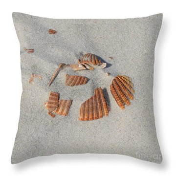 Shell Jigsaw Throw Pillow by Meandering Photography