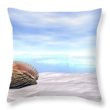 Shell Throw Pillow by John Pangia