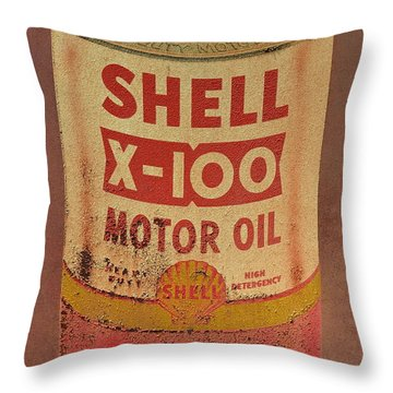 Shell Motor Oil Throw Pillow