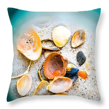 Shell Paradise  Throw Pillow