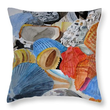 Shellers Delight Throw Pillow by Sandy McIntire