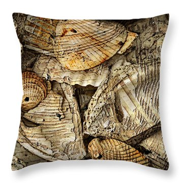 Shelling It Out Throw Pillow by Davina Washington