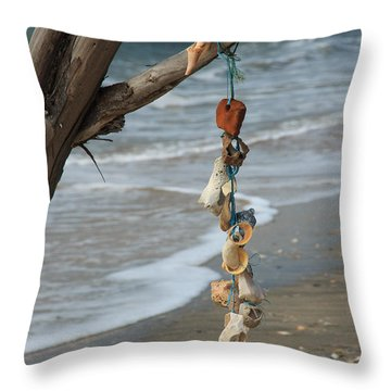 Shells On A String Throw Pillow
