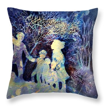 Shelter From The Storm Throw Pillow by Marilyn Jacobson