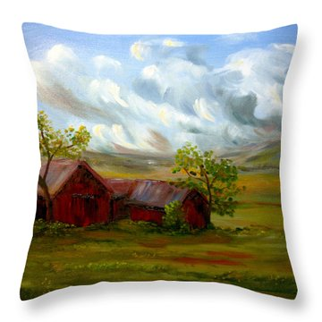 Shelter From The Storm Throw Pillow by Meaghan Troup