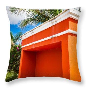 Shelter Orange Throw Pillow