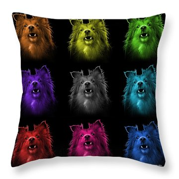 Sheltie Dog Art 0207 - Bb - M Throw Pillow by James Ahn
