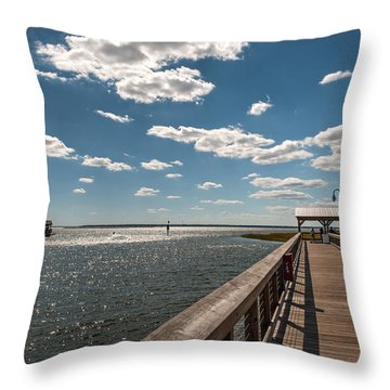 Shem Creek Pavilion  Throw Pillow