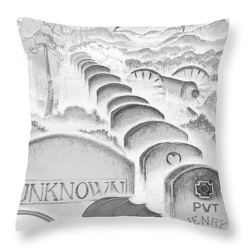 Throw Pillow featuring the digital art Shenandoah  by Carol Jacobs